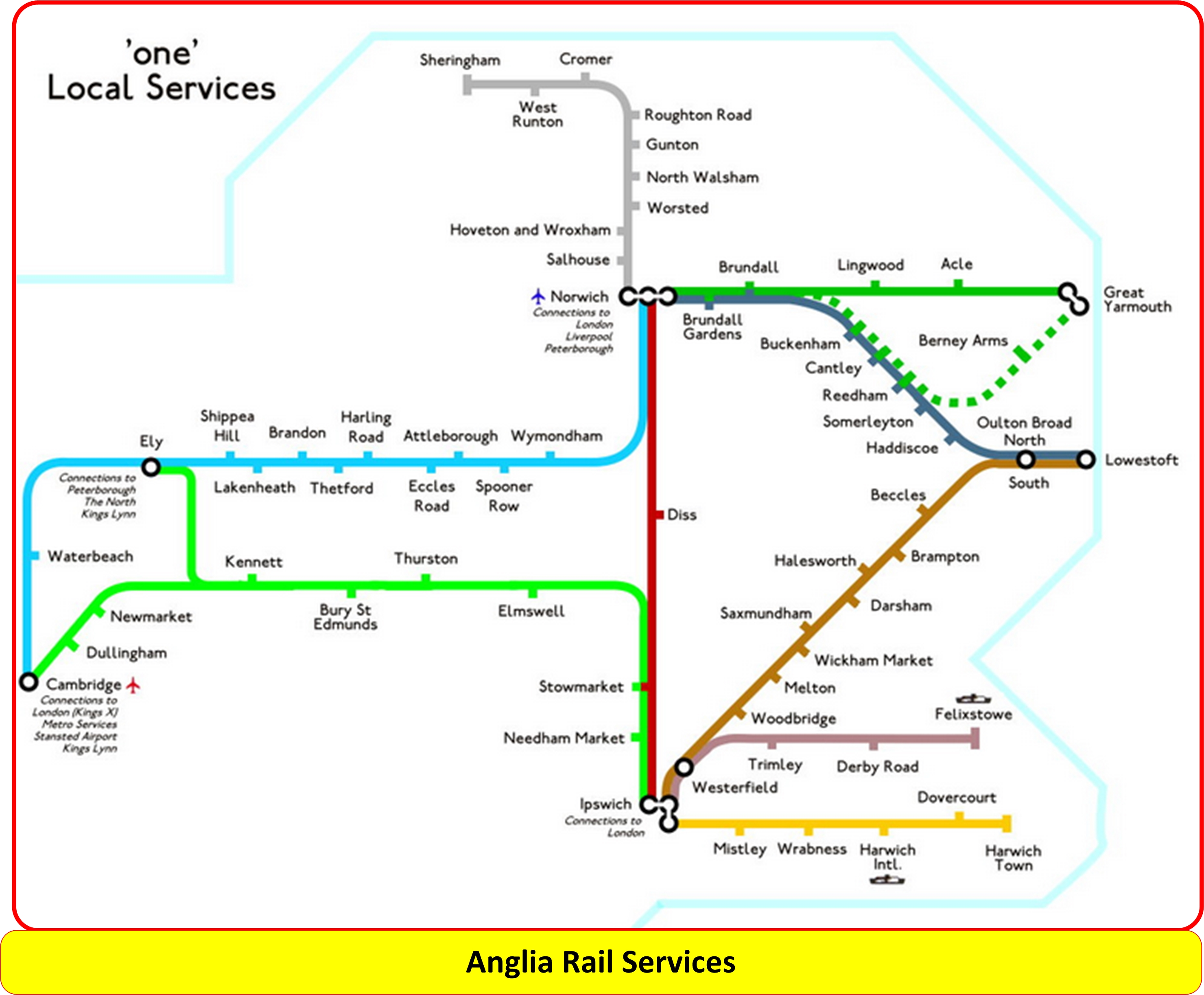 Anglia Services Map