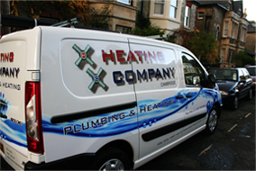 heating company parked van